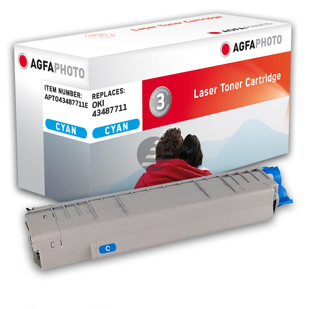 Agfaphoto Toner-Kit cyan (APTO43487711E)
