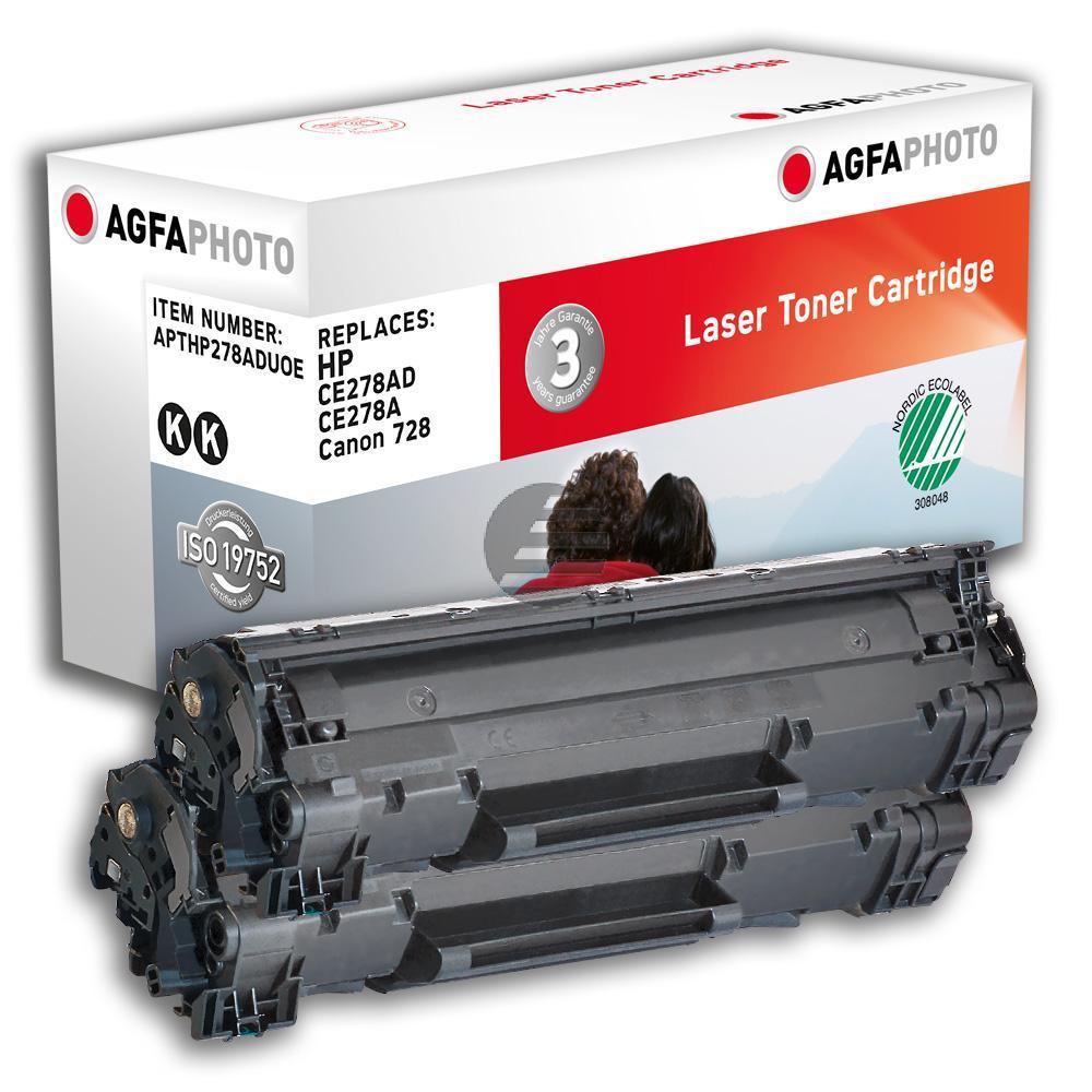 Agfaphoto Toner-Kartusche 2x schwarz 2-er Pack (APTHP278ADUOE)