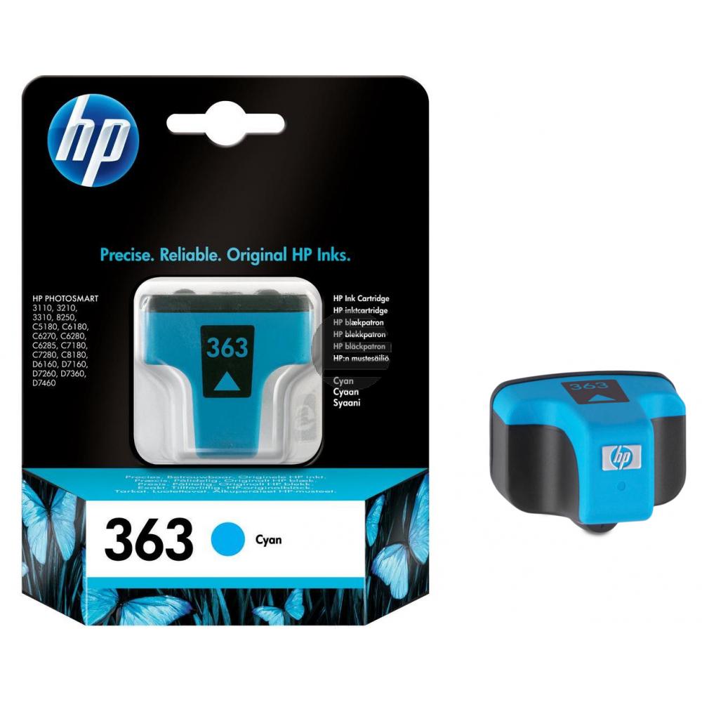 HP Tinte Cyan (C8771EE#ABE, 363)