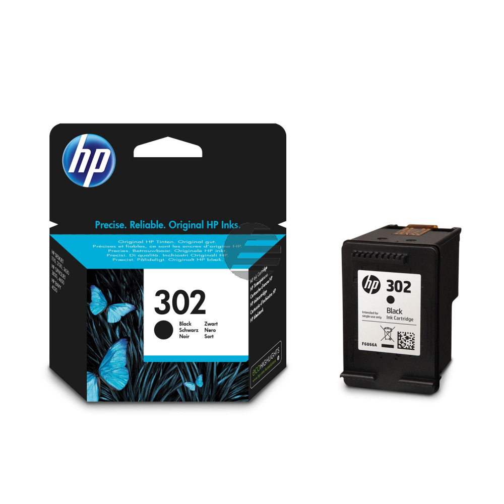 HP Tintendruckkopf schwarz (F6U66AE#ABE, 302)