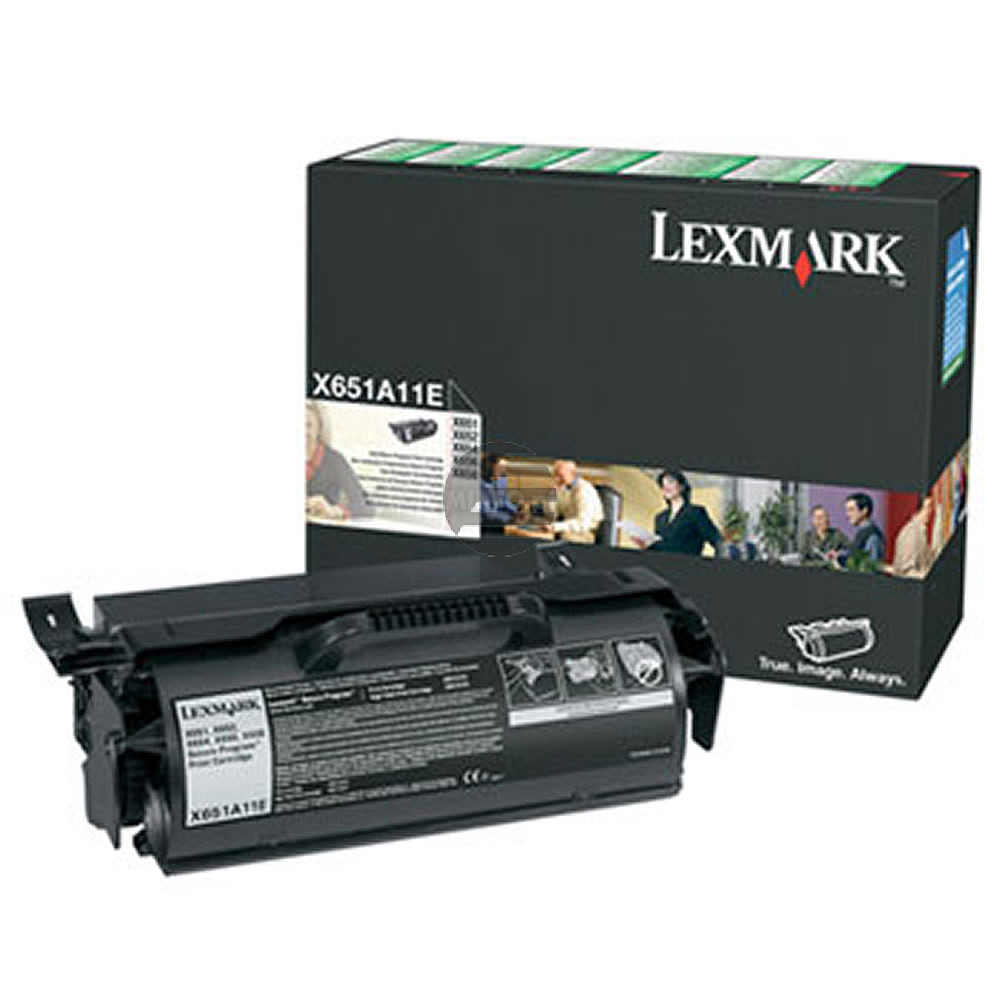 Lexmark Toner-Kartusche Prebate schwarz (X651A11E)
