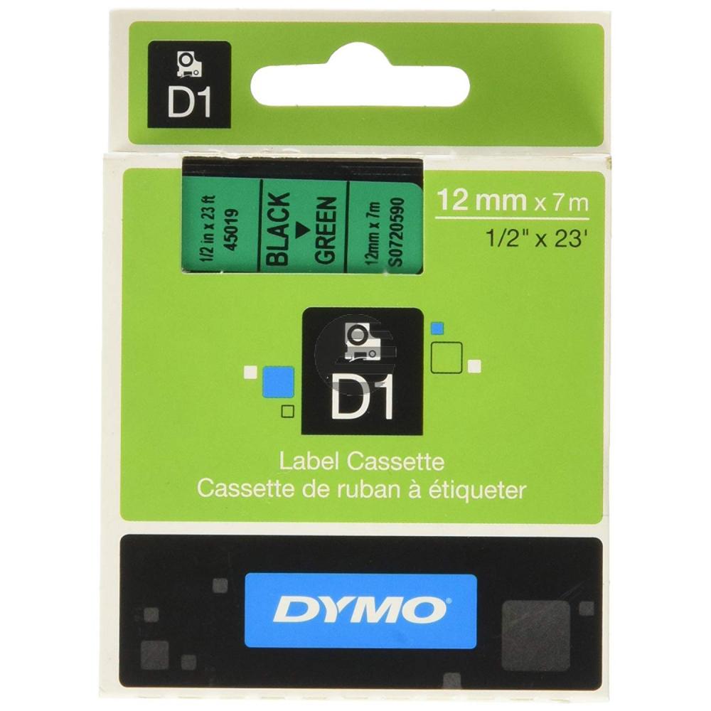 Dymo Schriftbandkassette schwarz/grün (45019)