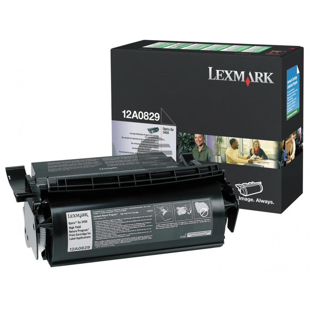 Lexmark Toner-Kartusche speziell für Etiketten schwarz (12A0829)