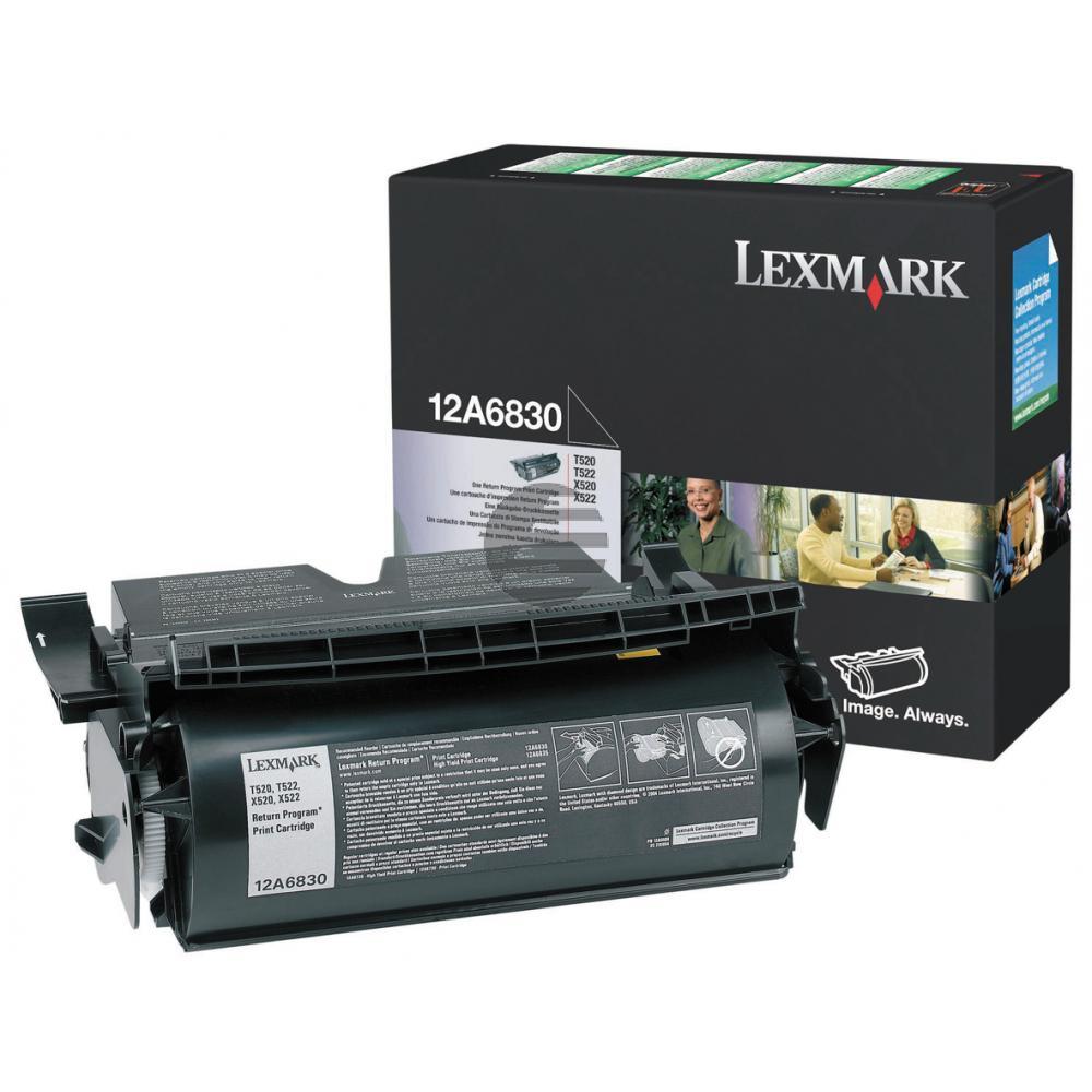 Lexmark Toner-Kartusche Prebate schwarz (12A6830)