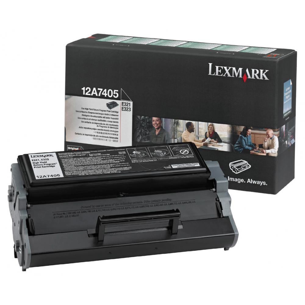 Lexmark Toner-Kartusche Prebate schwarz HC (12A7405)