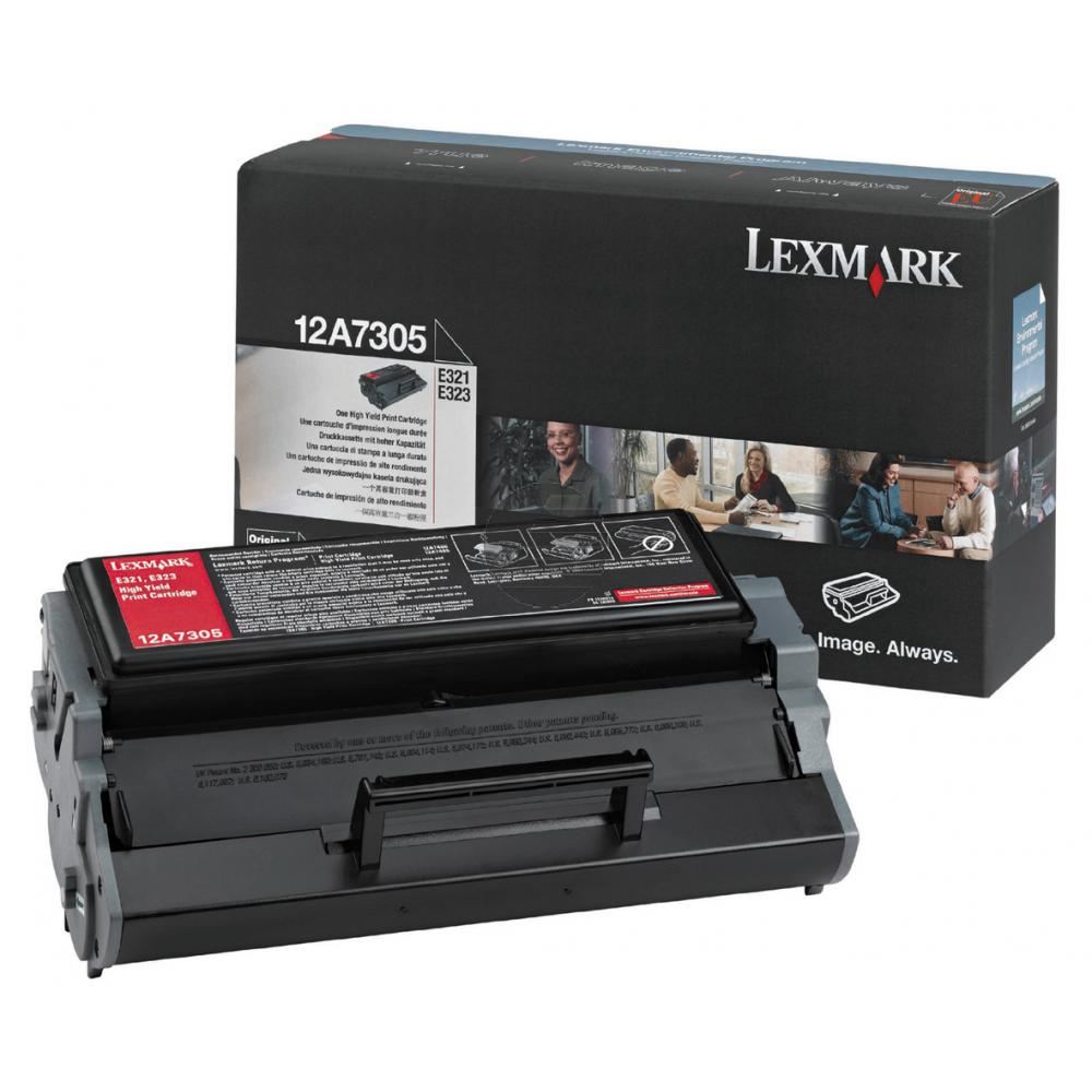 Lexmark Toner-Kartusche schwarz HC (12A7305)