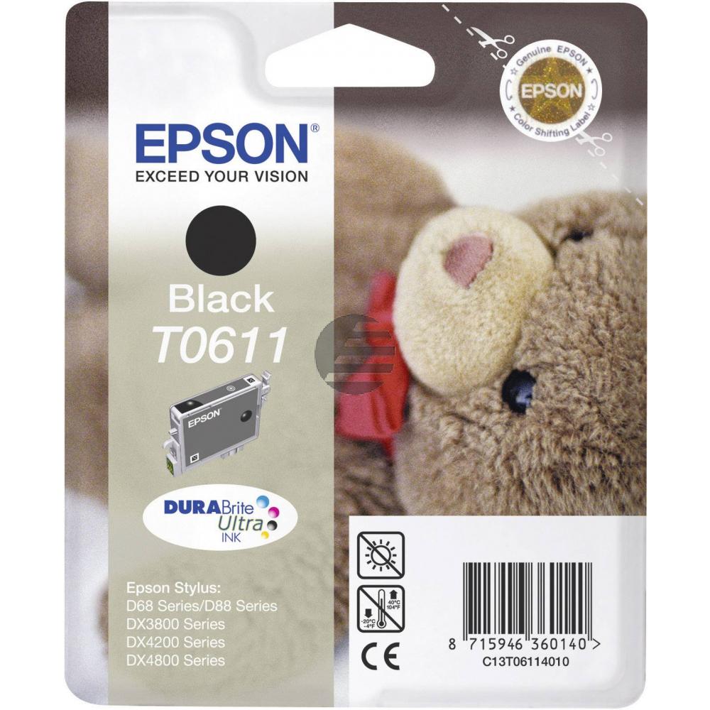 Epson Tinte schwarz (C13T06114010, T0611)