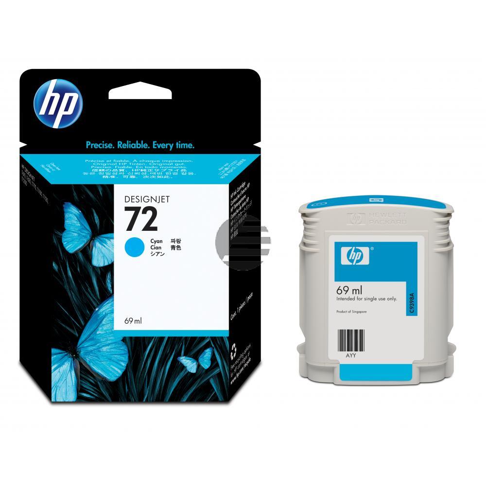 HP Tintenpatrone cyan (C9398A, 72)