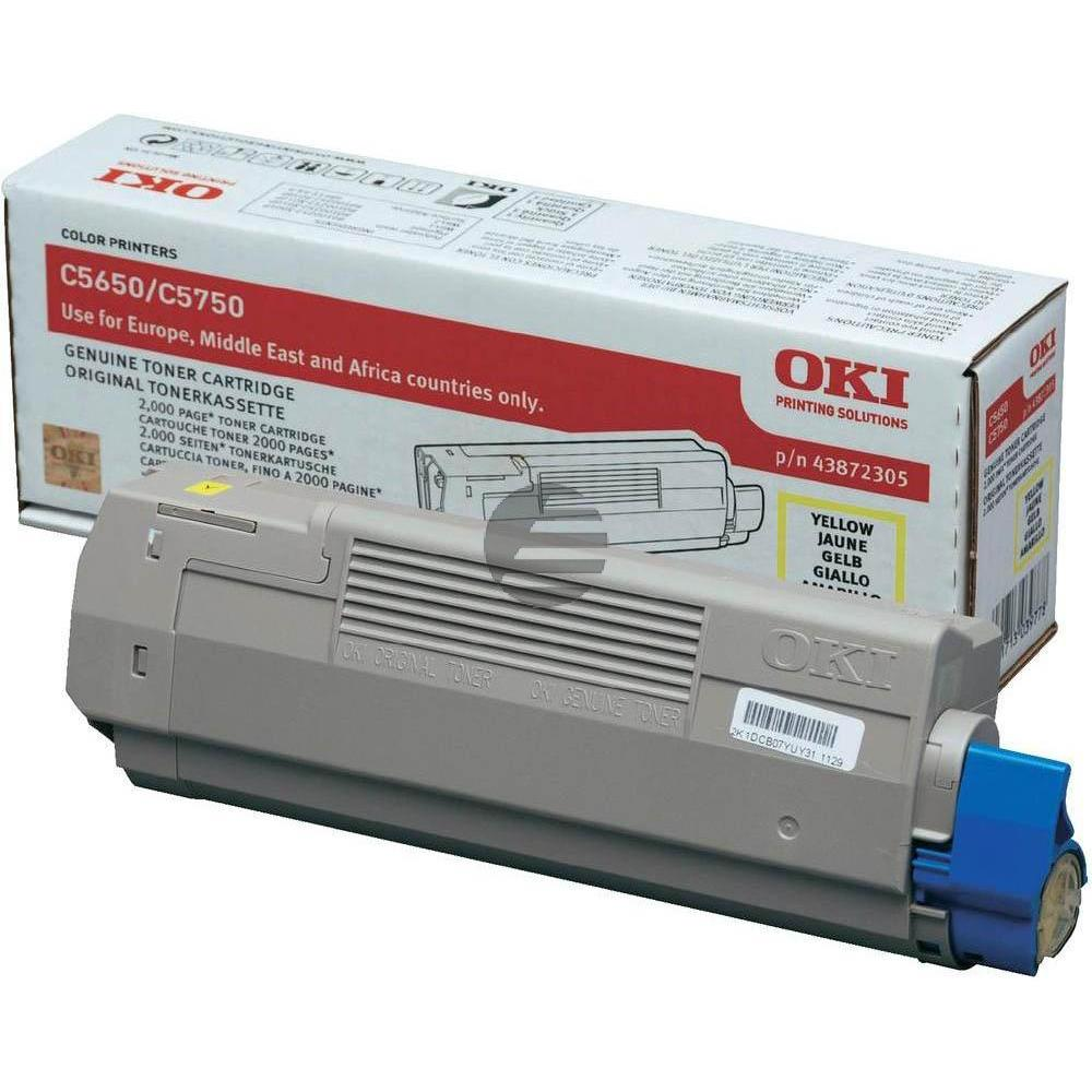 OKI Toner-Kit gelb (43872305)