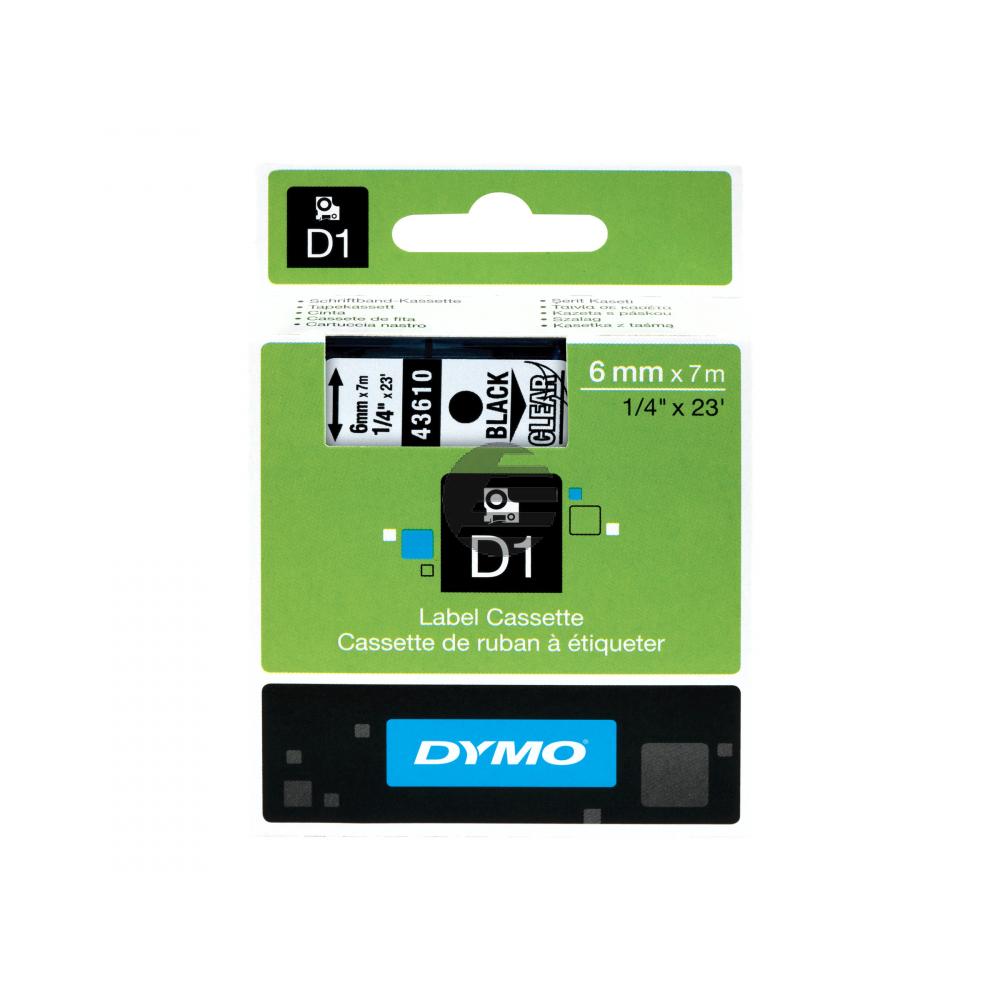 Dymo Schriftbandkassette schwarz/transparent (S0720770)