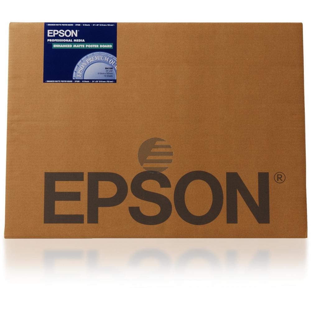 Epson Enhanced Matte Posterboard 24 X30 10 Seiten weiß (C13S041598)