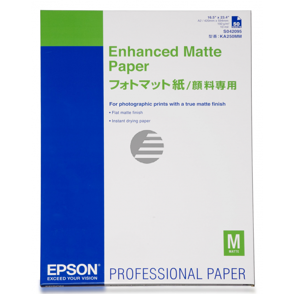 Epson Enhanced Matte Paper weiß DIN A2 (C13S042095)