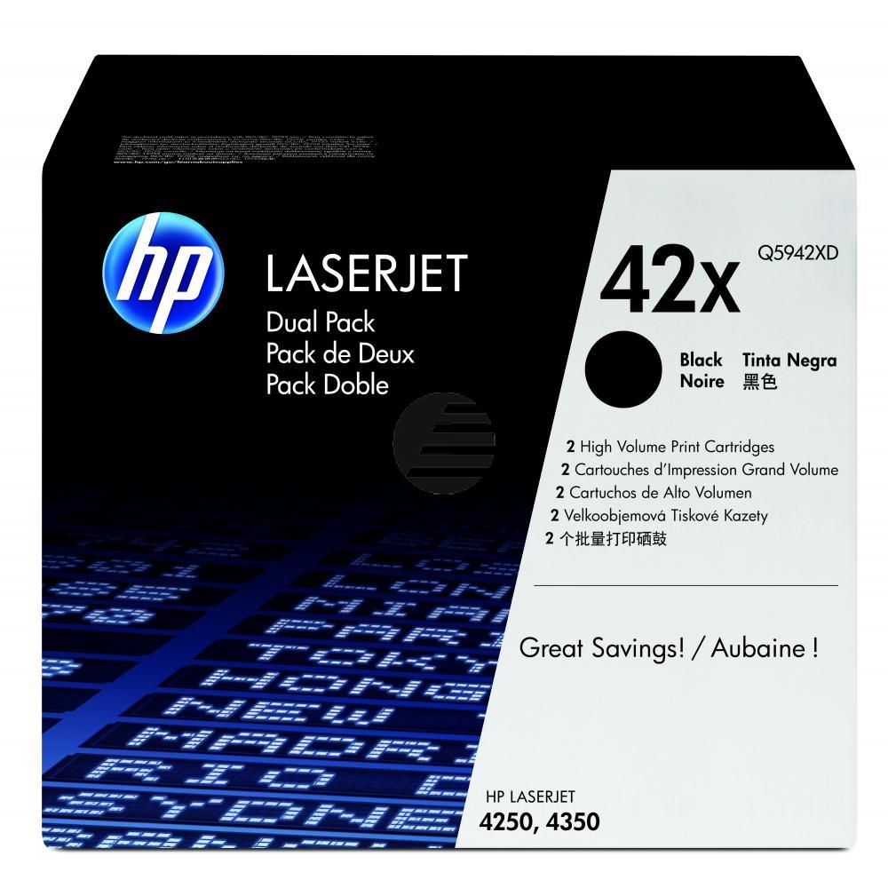 HP Toner-Kartusche 2x schwarz HC (Q5942XD, 42XD)