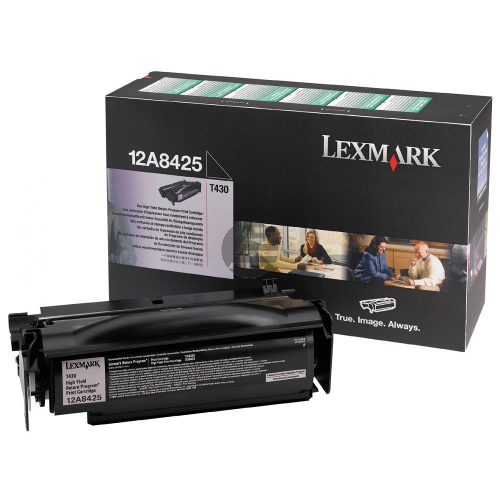 Lexmark Toner-Kartusche Prebate schwarz HC (12A8425)