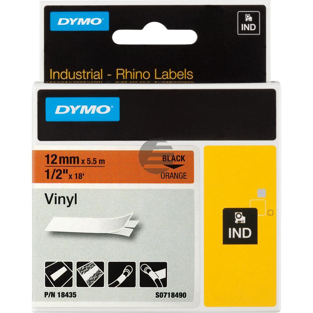 Dymo Farbiges Vinylband 120mm schwarz/orange (18435)