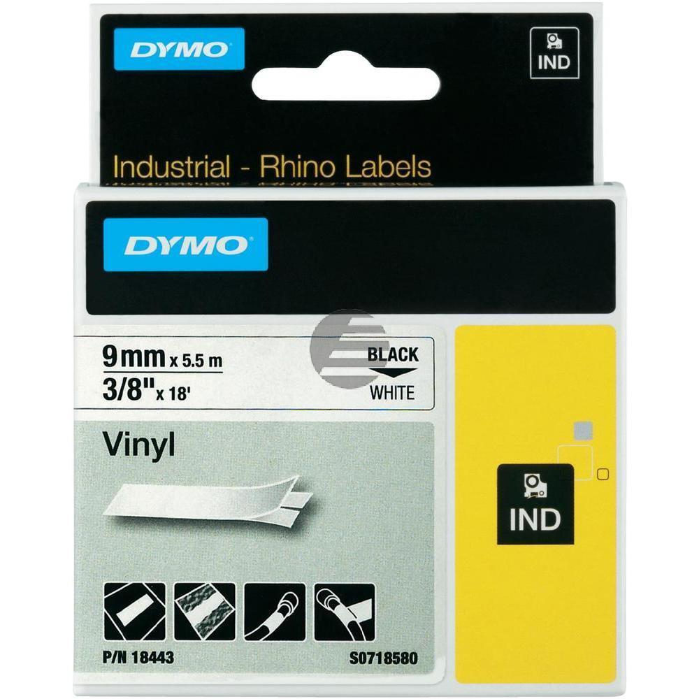 Dymo Farbiges Vinylband 90mm schwarz/weiß (18443)