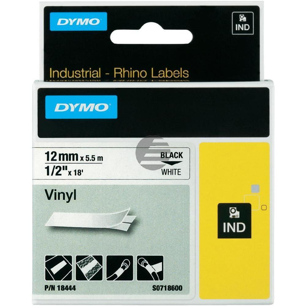 Dymo Farbiges Vinylband 120mm schwarz/weiß (18444)