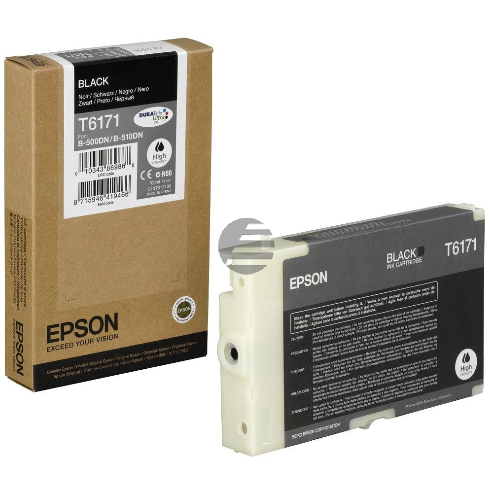 Epson Tinte schwarz HC (C13T617100, T6171)