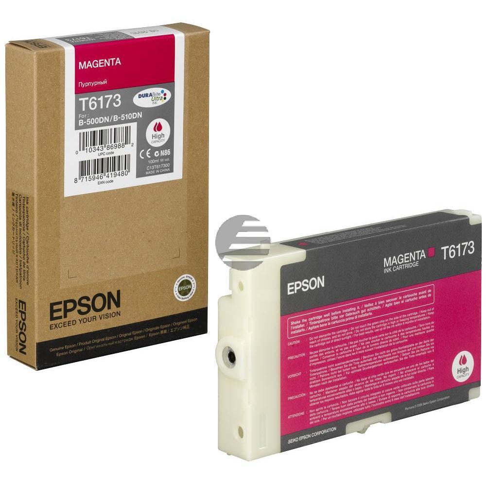 Epson Tintenpatrone magenta HC (C13T617300, T6173)