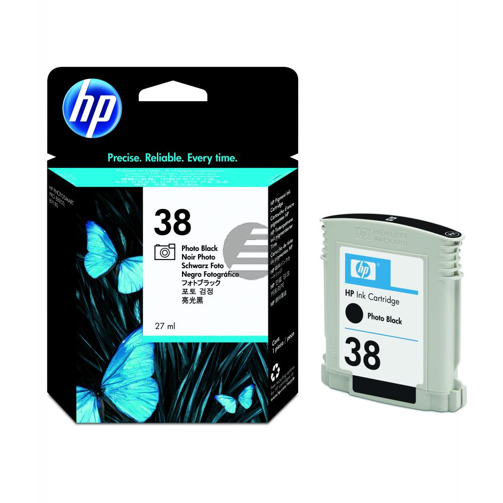 HP Tintenpatrone schwarz Photo schwarz (C9413A, 38)