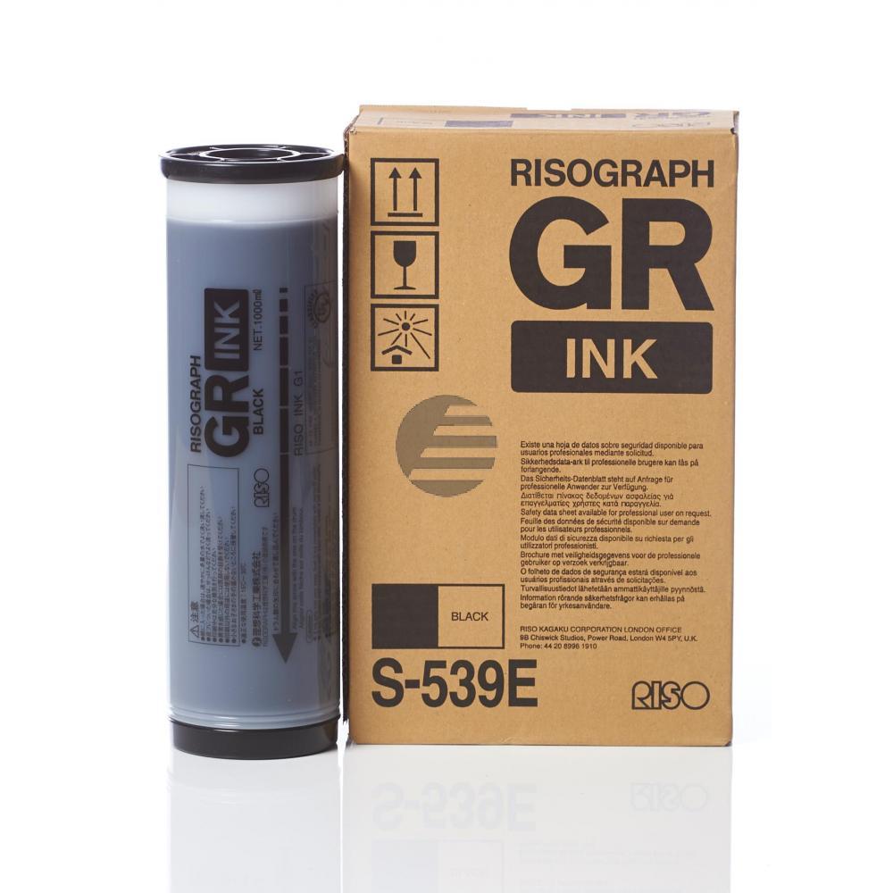 Riso Tintenpatrone 2 x schwarz 2-Pack (S-539E)