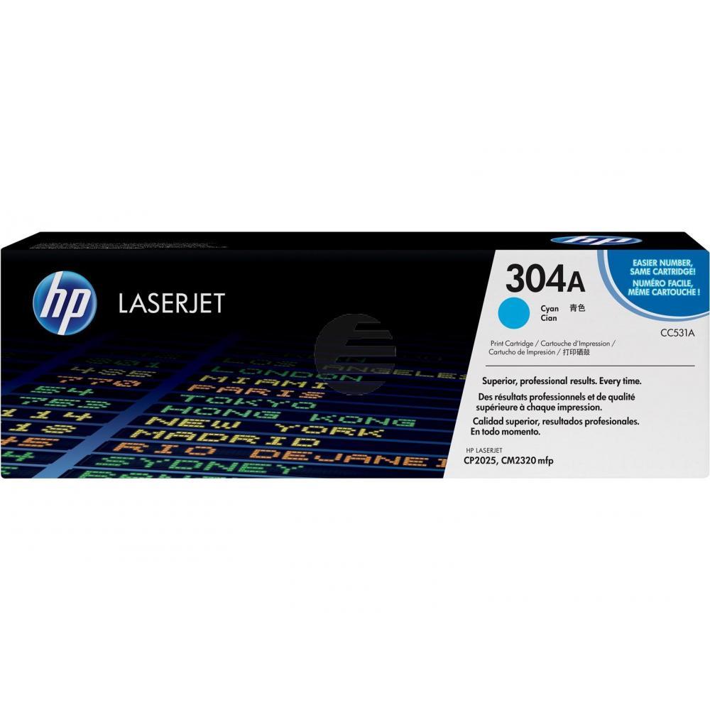 HP Toner-Kartusche cyan (CC531A, 304A)