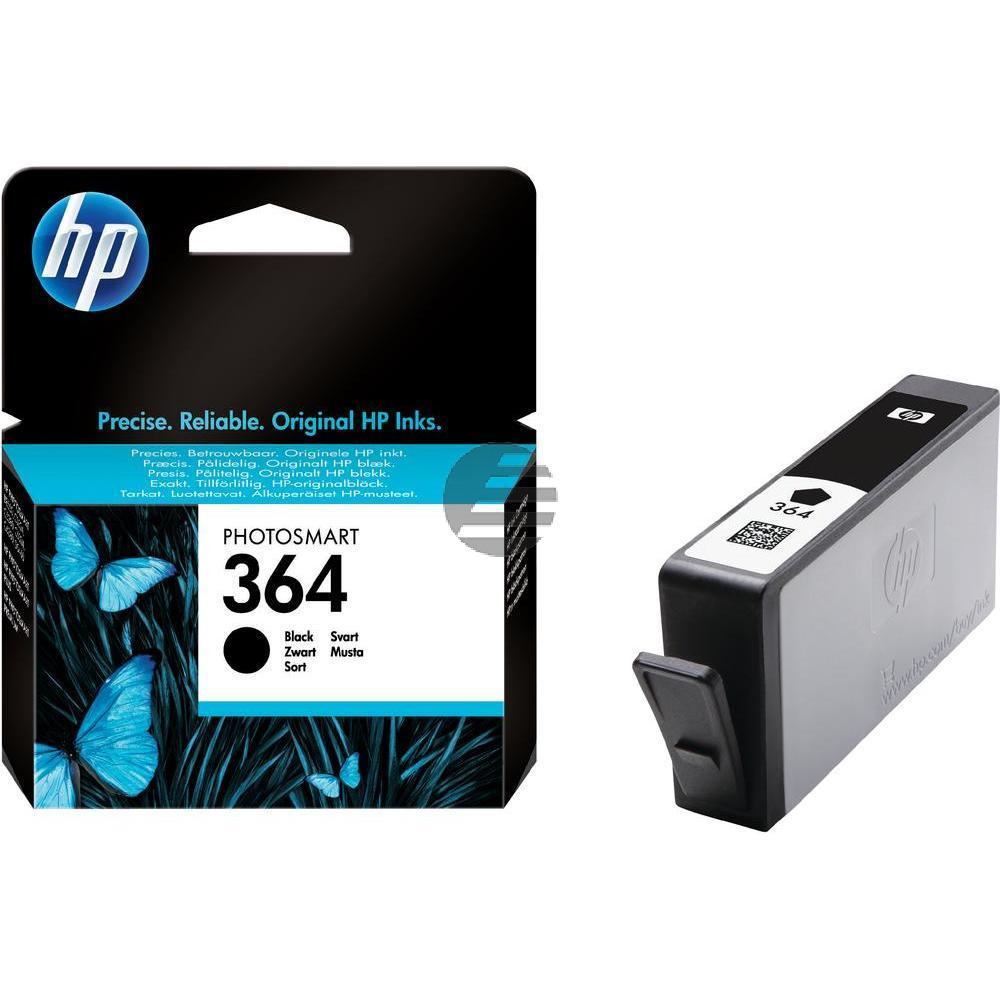 HP Tintenpatrone schwarz (CB316EE, 364)