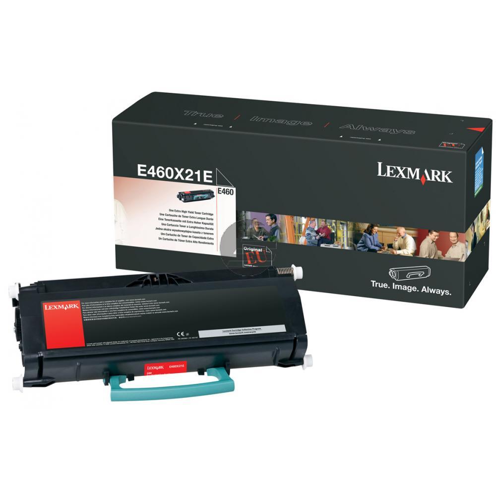 Lexmark Toner-Kartusche schwarz HC plus (E460X21E)