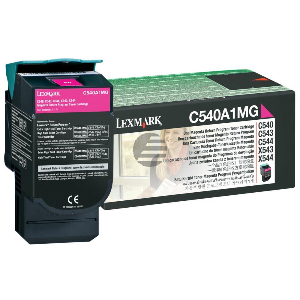 Lexmark Toner-Kartusche Prebate magenta (C540A1MG)