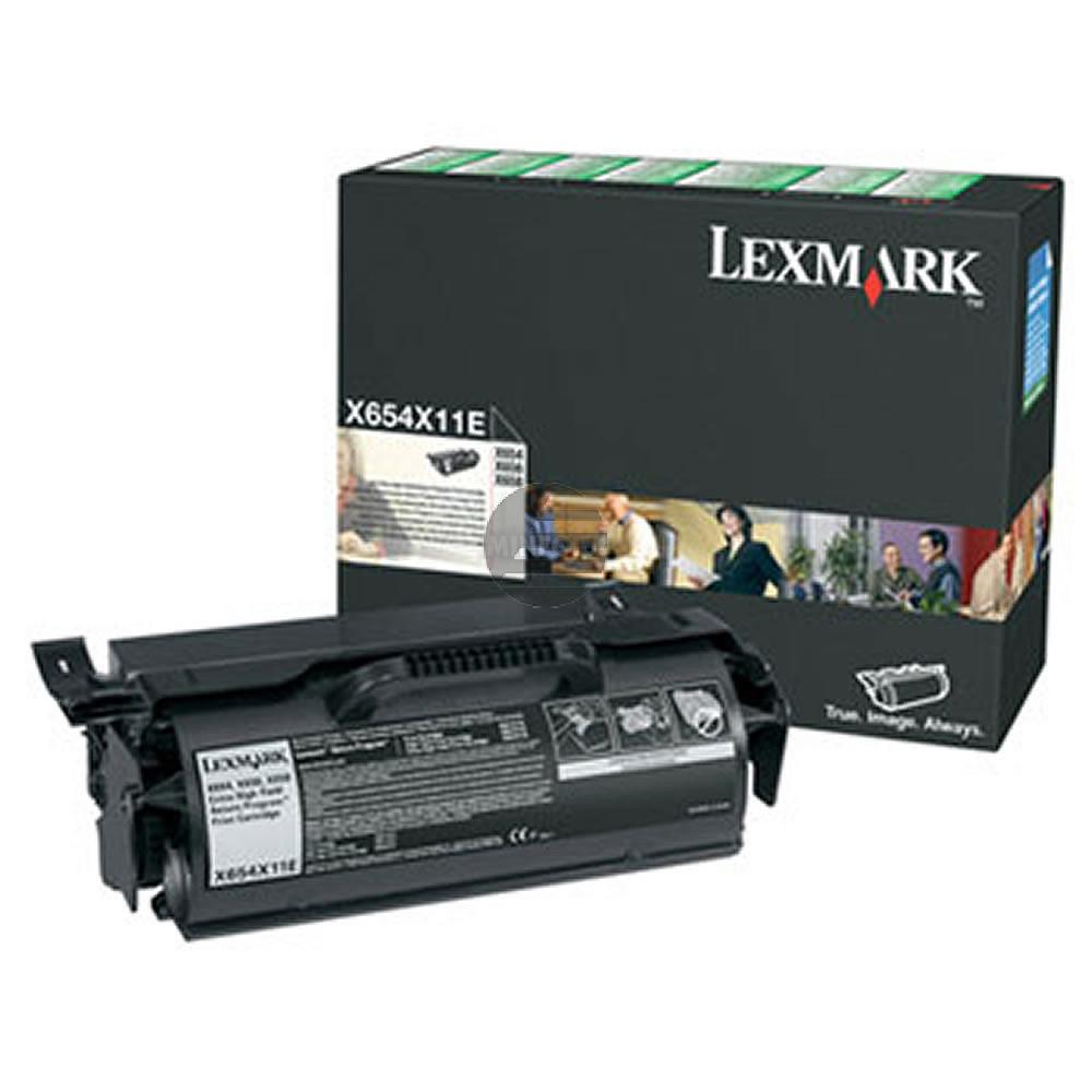 Lexmark Toner-Kartusche Prebate schwarz HC plus (0X654X11E X654X11E)