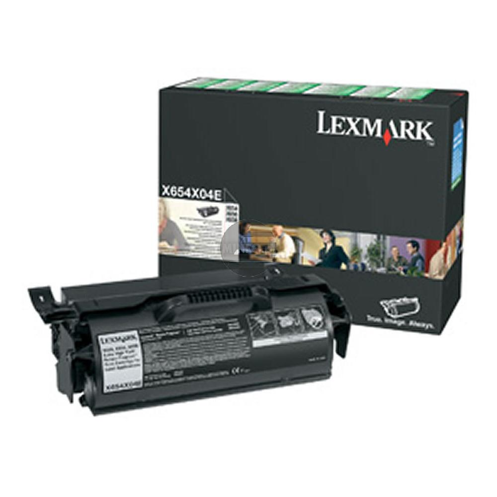 Lexmark Toner-Kartusche Prebate schwarz HC plus (X654X04A)
