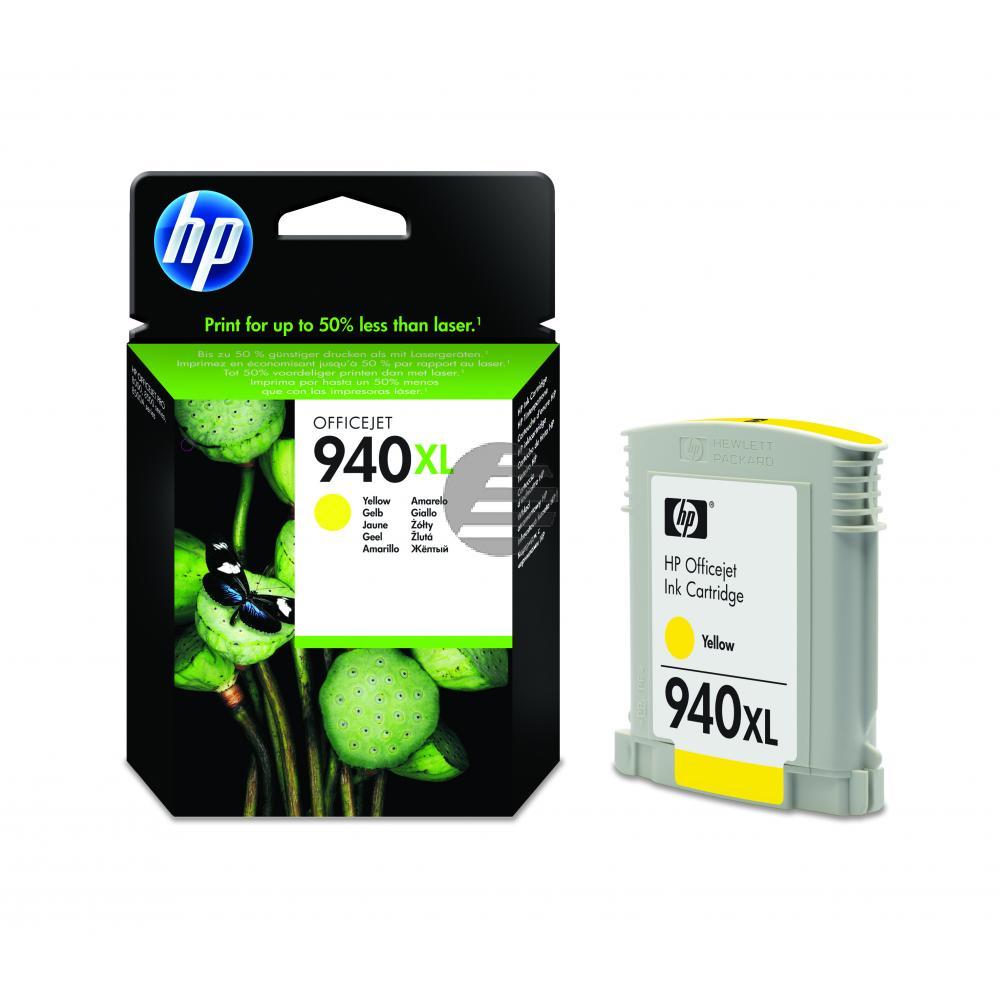 HP Tintenpatrone gelb HC (C4909AE, 940XL)
