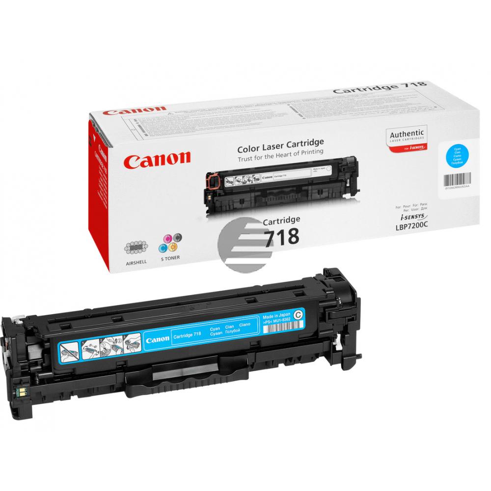 Canon Toner-Kartusche cyan (2661B002, CL-718C)