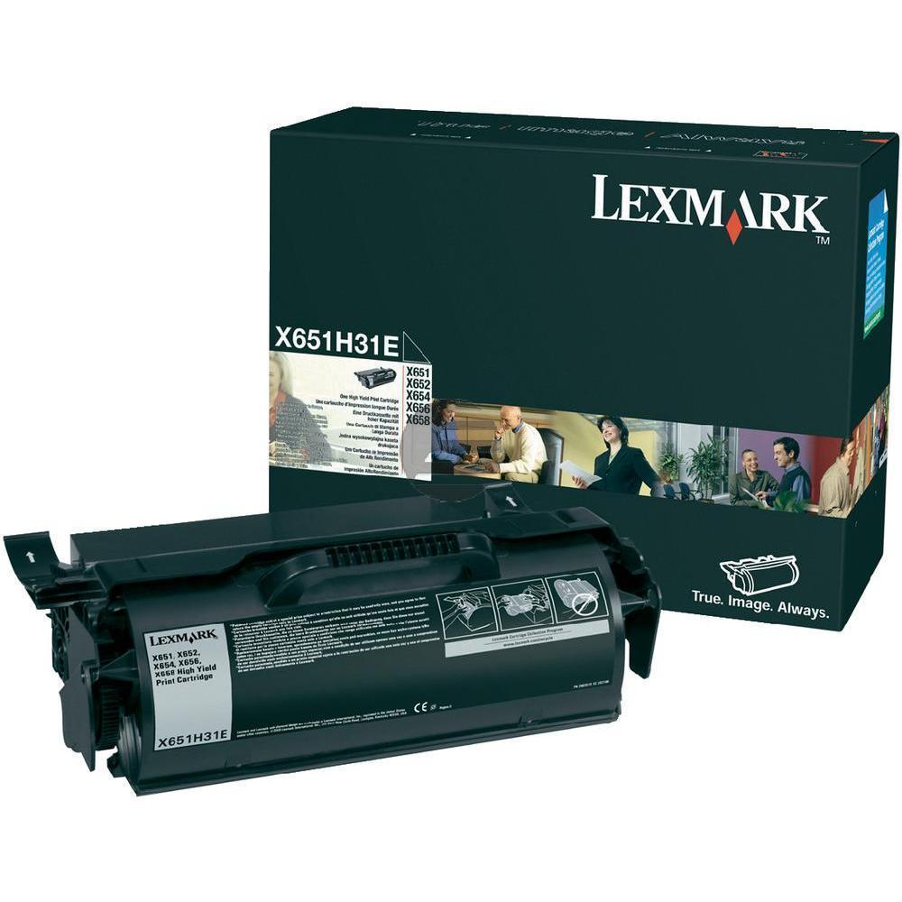 Lexmark Toner-Kartusche Corporate schwarz HC (X651H31E)