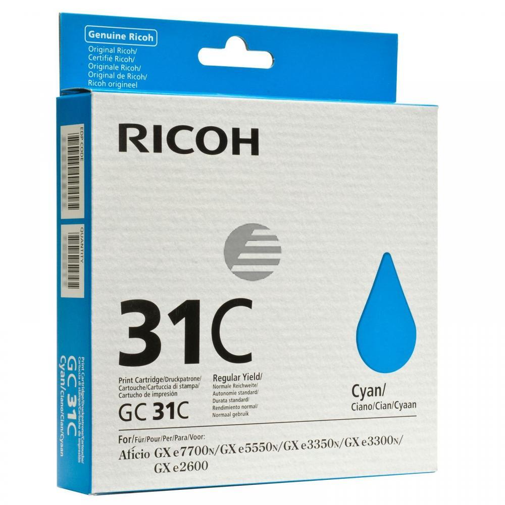 Ricoh Gel-Kartuschen cyan (405689, GC31C)