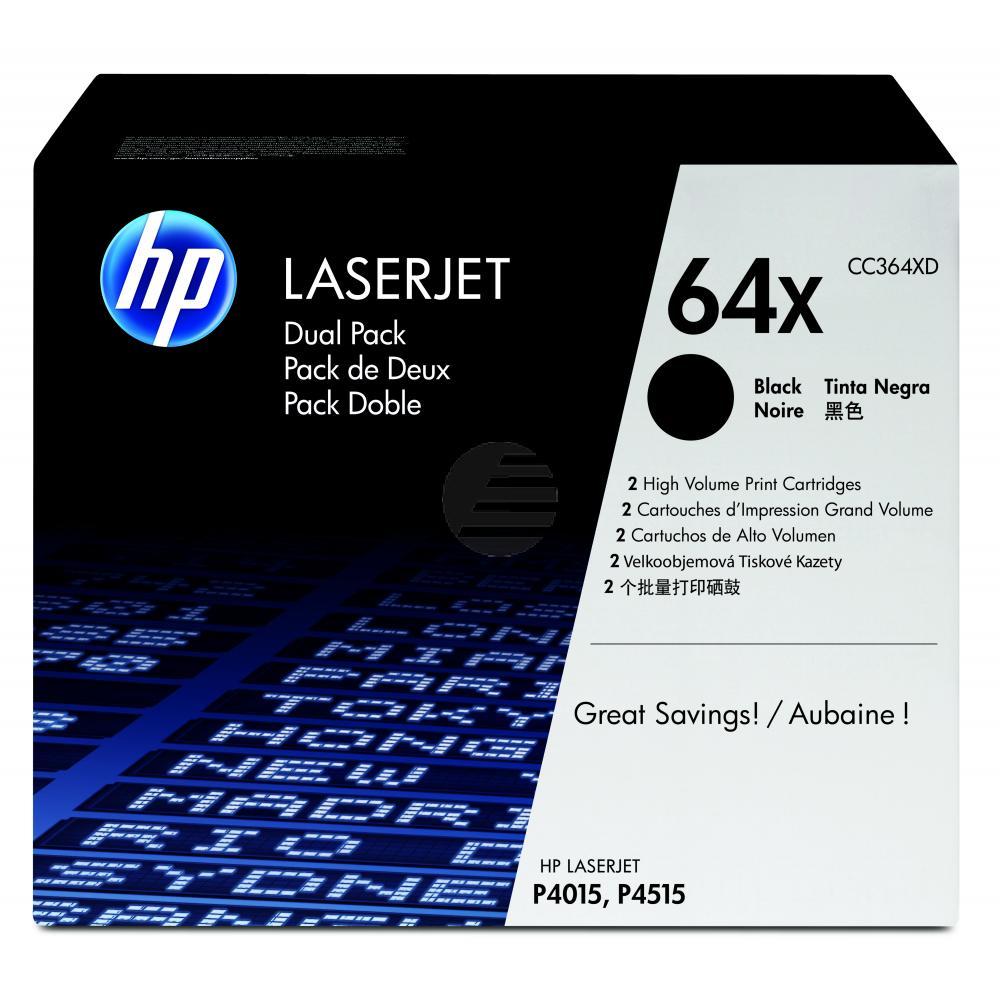 HP Toner-Kartusche 2x schwarz HC (CC364XD, 64XD)