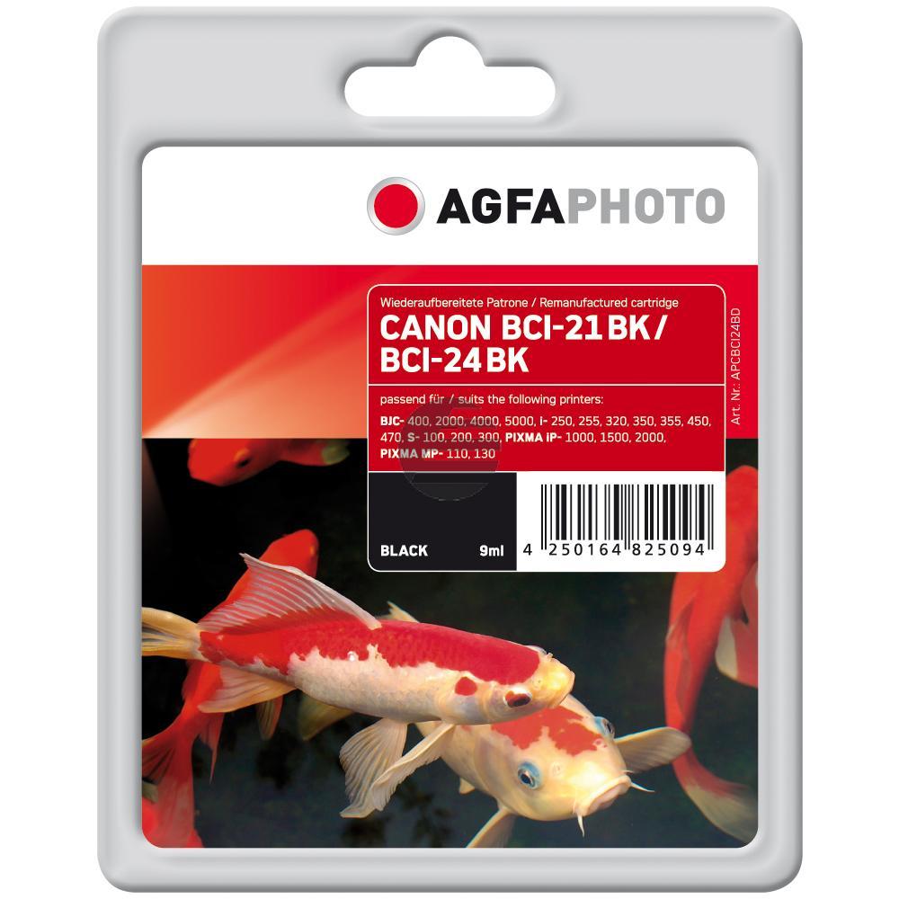 Agfaphoto Tintenpatrone schwarz (APCBCI24BD)
