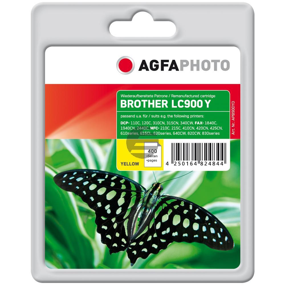 Agfaphoto Tintenpatrone gelb (APB900YD) ersetzt LC-900Y