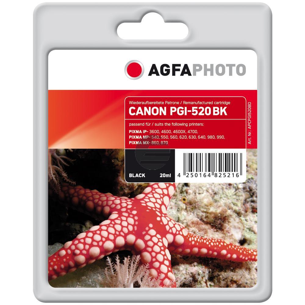 Agfaphoto Tintenpatrone schwarz (APCPGI520BD)