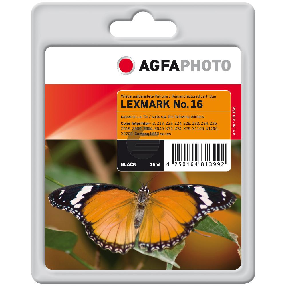 Agfaphoto Tintendruckkopf schwarz HC (APL16B) ersetzt 10N0016 / 16