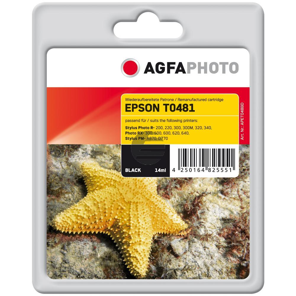 Agfaphoto Tintenpatrone schwarz (APET048BD) ersetzt C13T04814010 / T0481