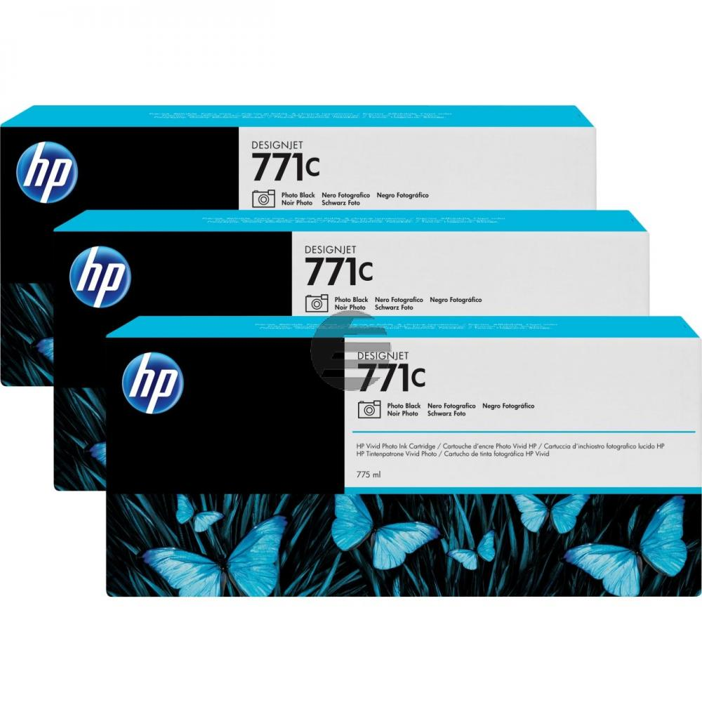HP Tintenpatrone cyan light 3er Pack (CR255A, 3 x 771C)