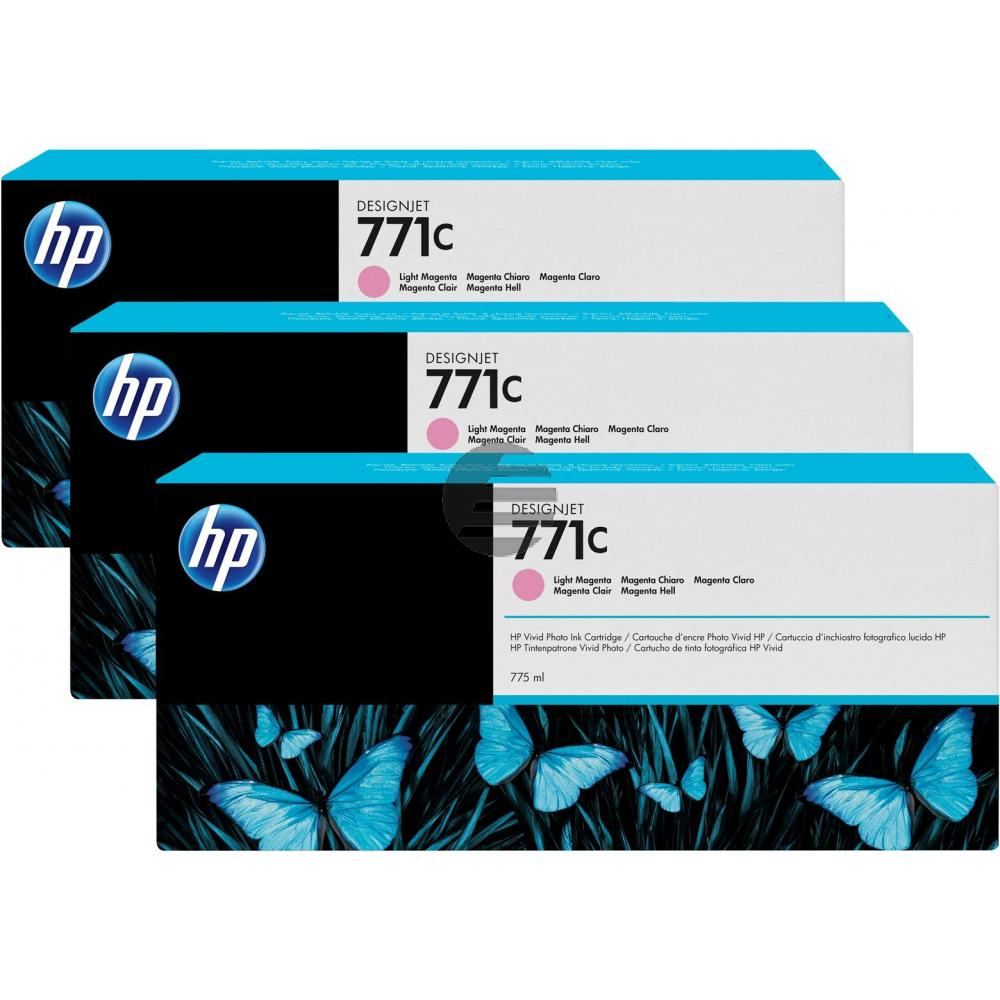 HP Tinte Magenta light 3er Pack (CR254A, 3 x 771C)