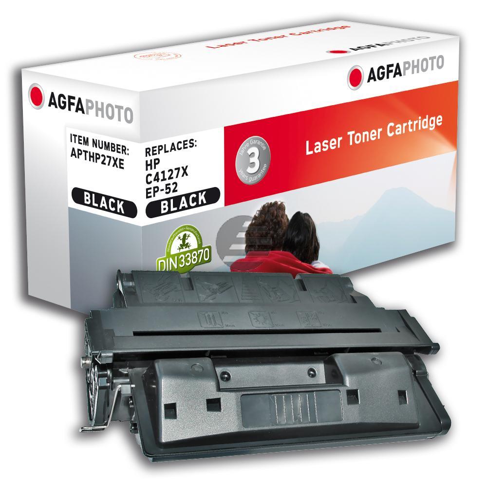 Agfaphoto Toner-Kartusche schwarz HC (APTHP27XE) ersetzt C4127X (27X), 3839A003 (EP-52)