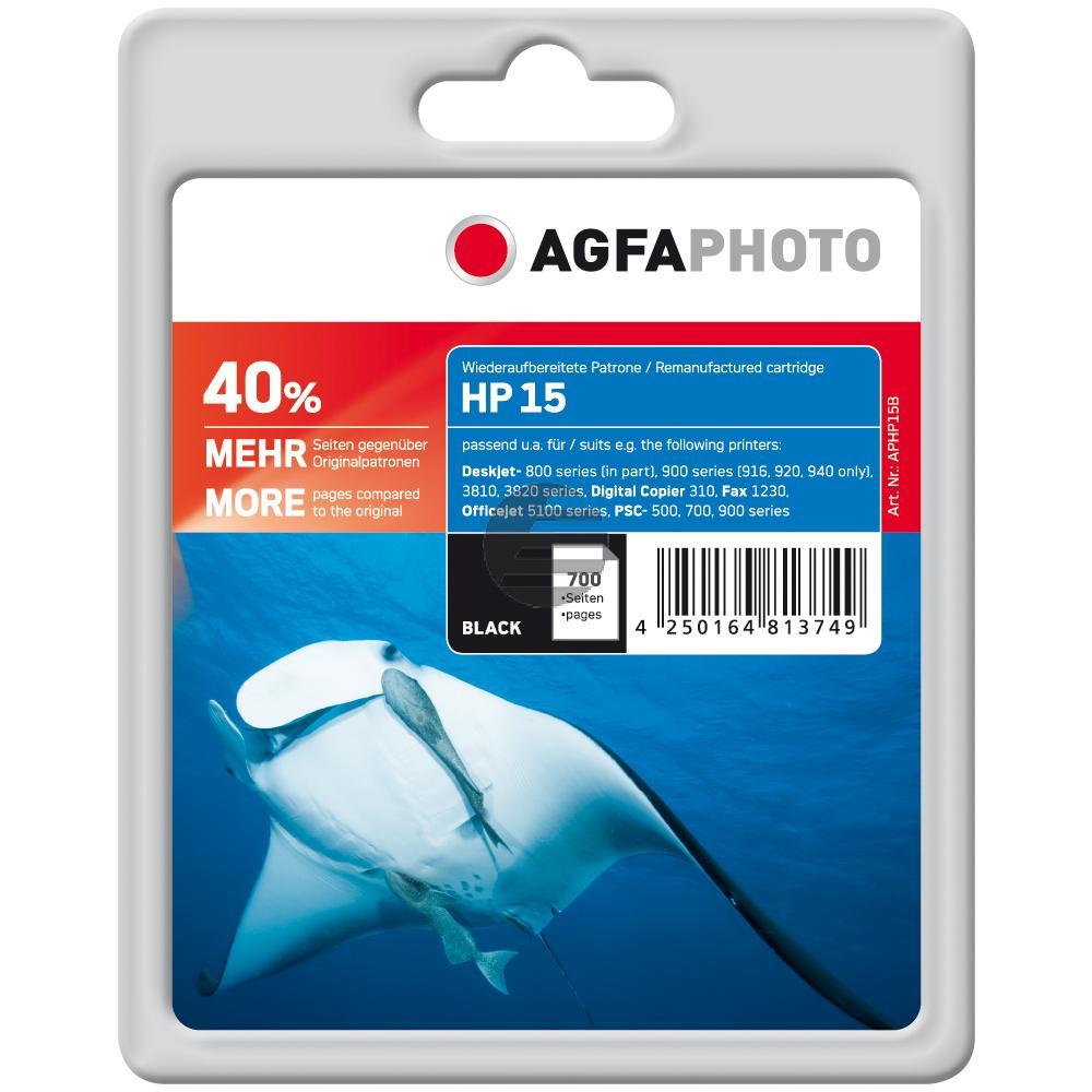 Agfaphoto Tintendruckkopf schwarz HC (APHP15B) ersetzt C6615DE / 15
