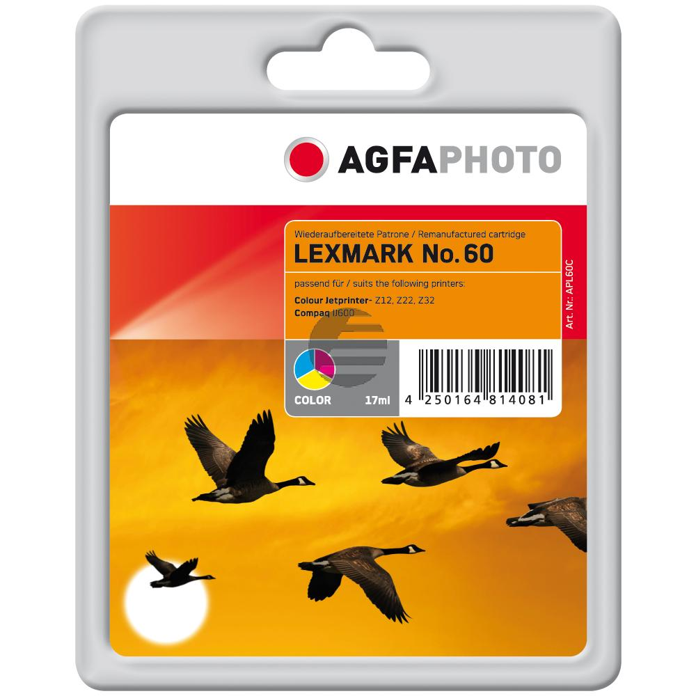 Agfaphoto Tintendruckkopf cyan/gelb/magenta (APL60C) ersetzt 17G0060 (60)