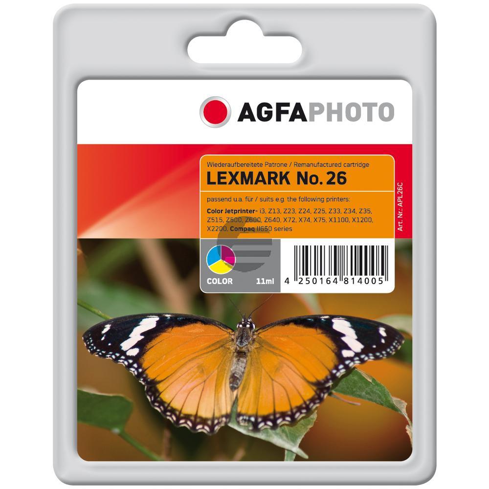 Agfaphoto Tintendruckkopf cyan/gelb/magenta HC (APL26C) ersetzt 10N0026 / 26