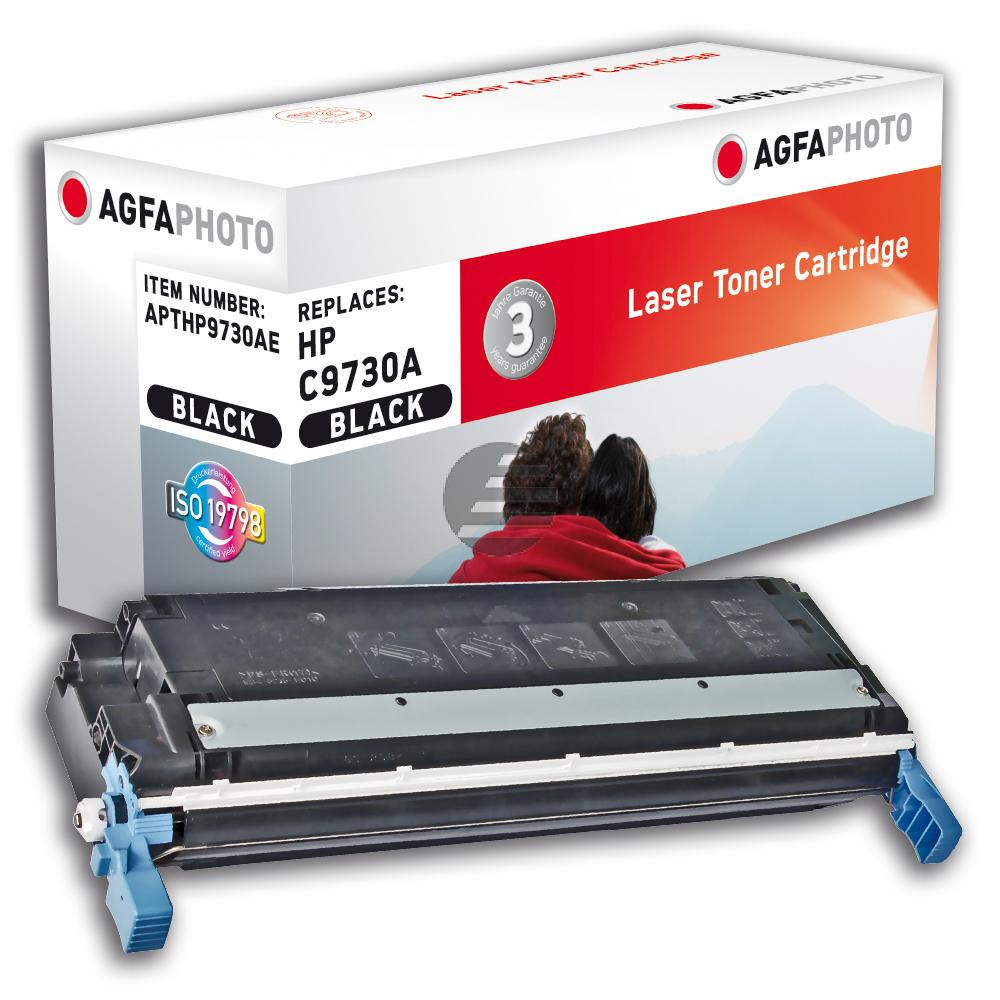 Agfaphoto Toner-Kartusche schwarz (APTHP9730AE) ersetzt C9730A (645A), 6830A004 (EP-86BK)
