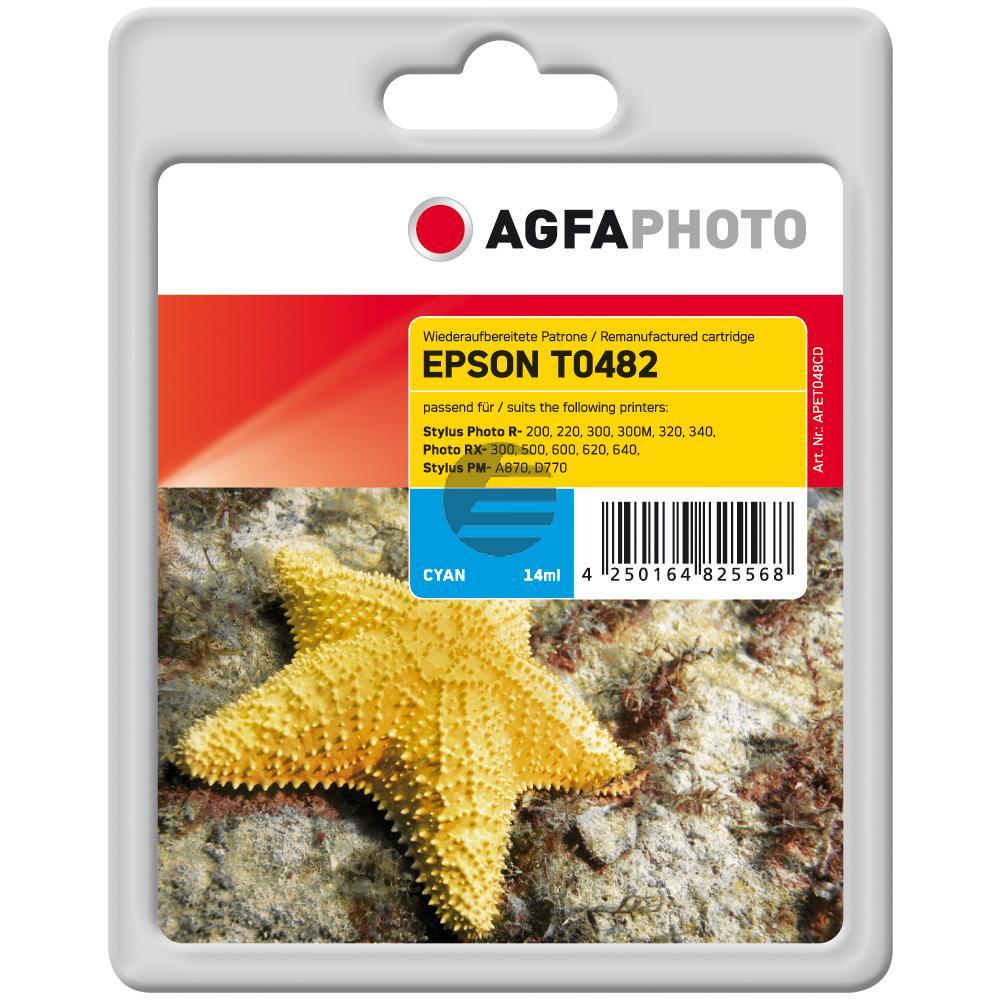 Agfaphoto Tintenpatrone cyan (APET048CD) ersetzt C13T04824010 (T0482)