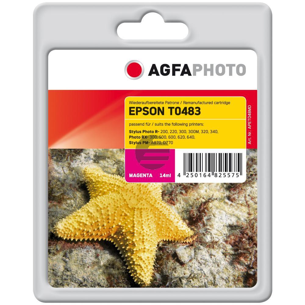 Agfaphoto Tintenpatrone magenta (APET048MD) ersetzt C13T04834010 (T0483)